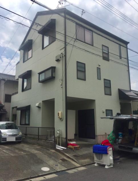 奈良県外壁塗装施工前の写真
