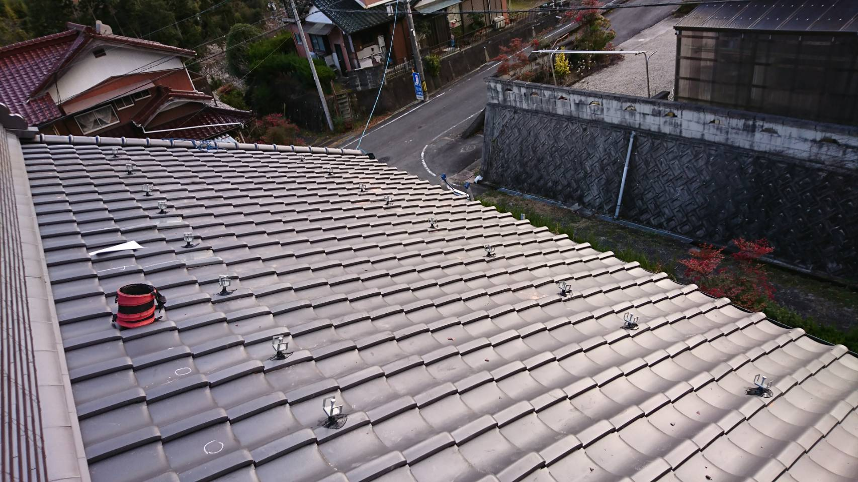 大阪府長州太陽光パネルCS-274B61施工前の写真