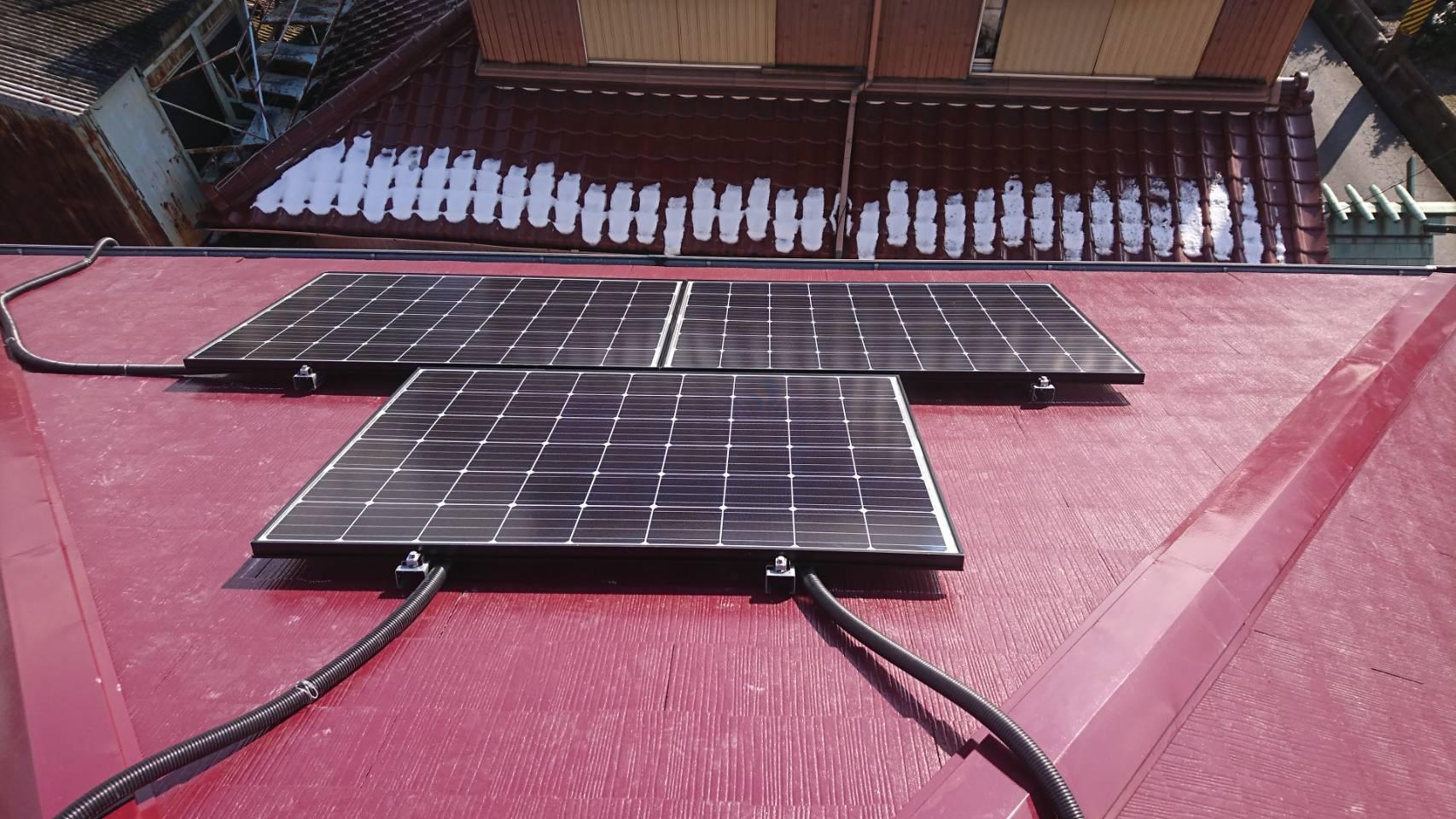 兵庫県長州産業 太陽光発電CS-274B61施工後の写真