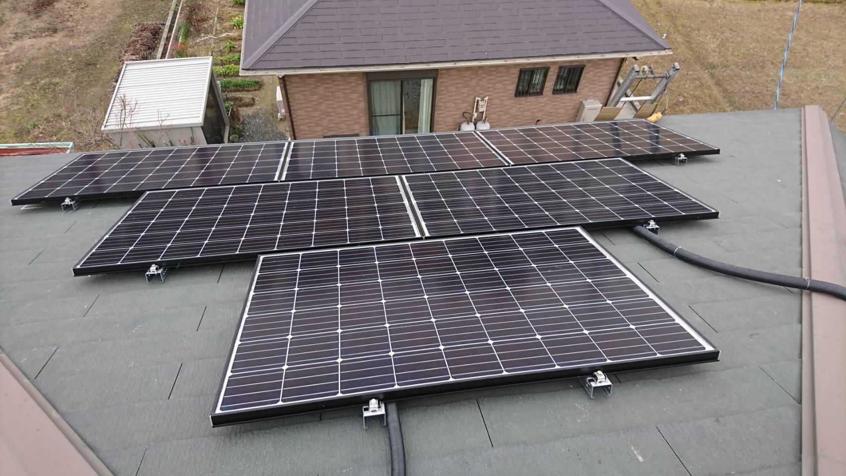 京都府長州産業太陽光発電CS-274B61施工後の写真