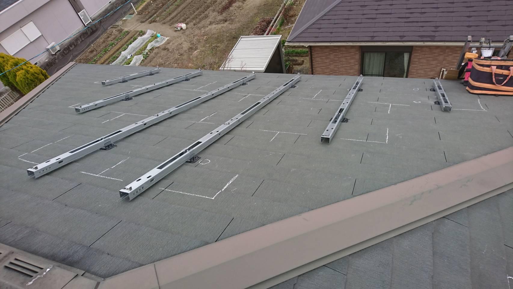 京都府長州産業太陽光発電CS-274B61施工前の写真