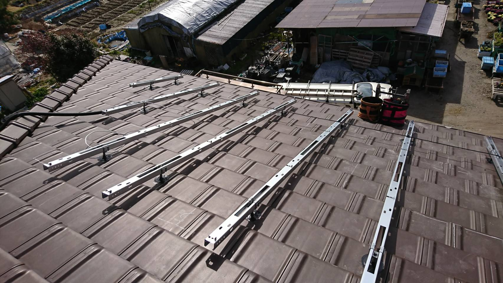 三重県長州産業 太陽光発電CS-274B61施工前の写真