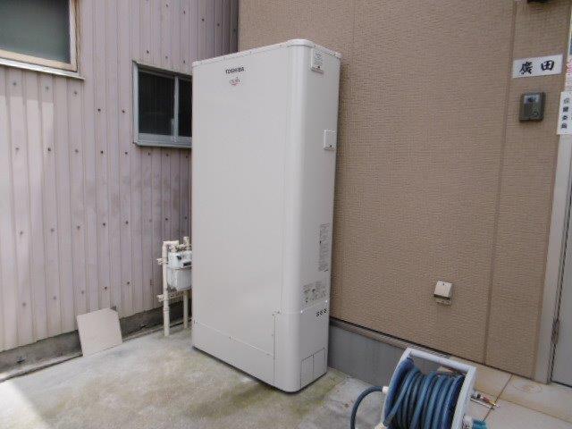 兵庫県東芝エコキュートHWH-FBH373WCG施工後の写真