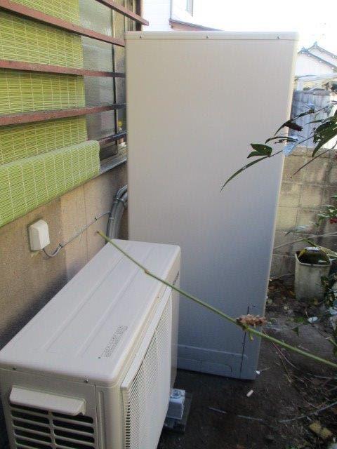 京都府東芝エコキュート施工後の写真