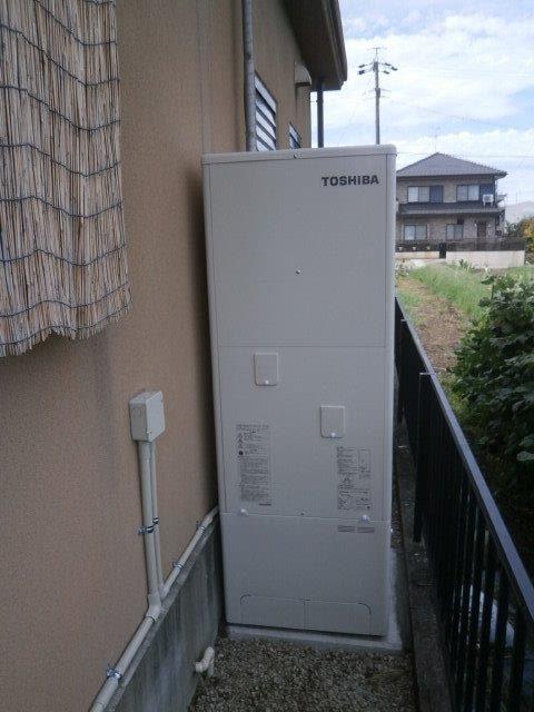 愛知県東芝エコキュートHWH-B375HA施工後の写真