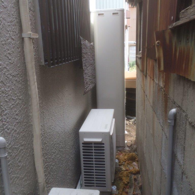 大阪府東芝エコキュートHWH-B374HW施工後の写真