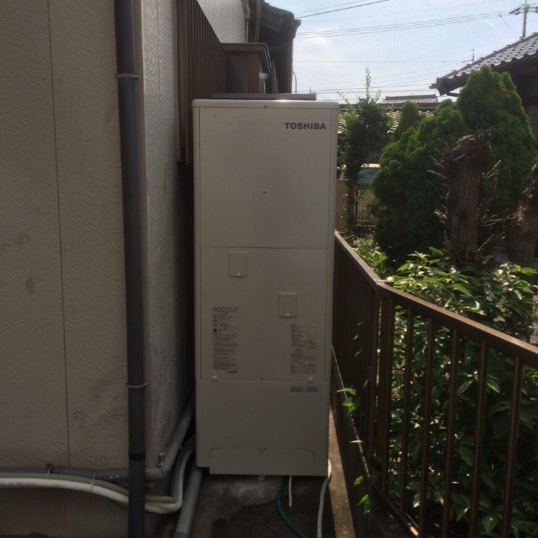 奈良県東芝エコキュートHWH-B375HA施工後の写真