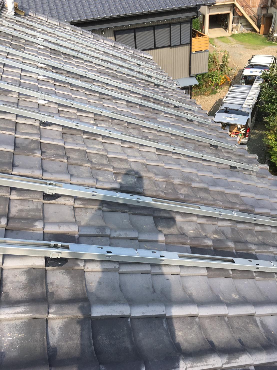 奈良県長州太陽光発電CS-260B51施工前の写真