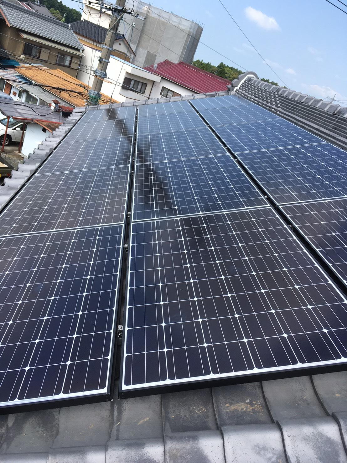 奈良県長州太陽光発電CS-260B51施工後の写真