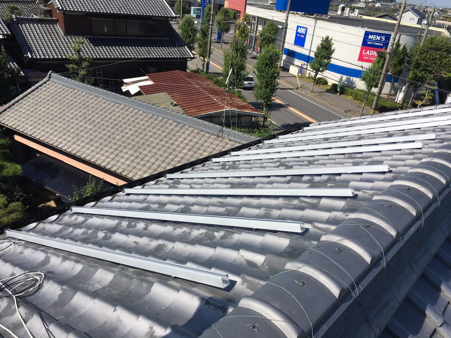 滋賀県三菱太陽光パネル 20枚PV-MA2180K施工前の写真