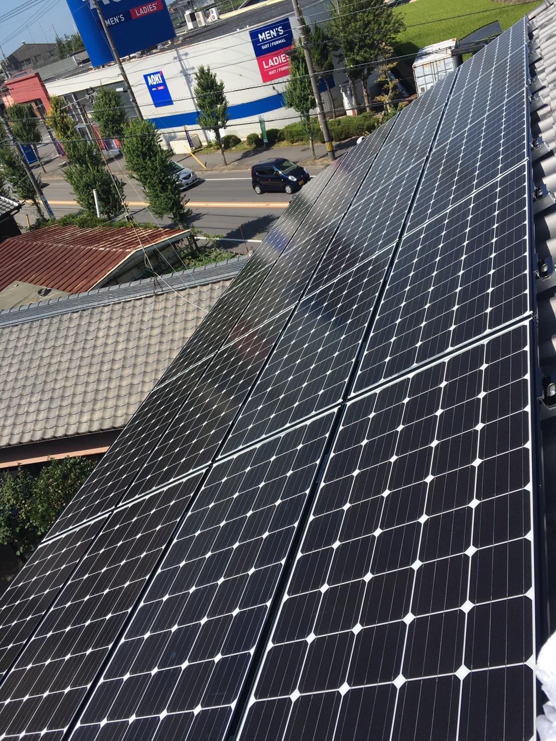 滋賀県三菱太陽光パネル 20枚PV-MA2180K施工後の写真