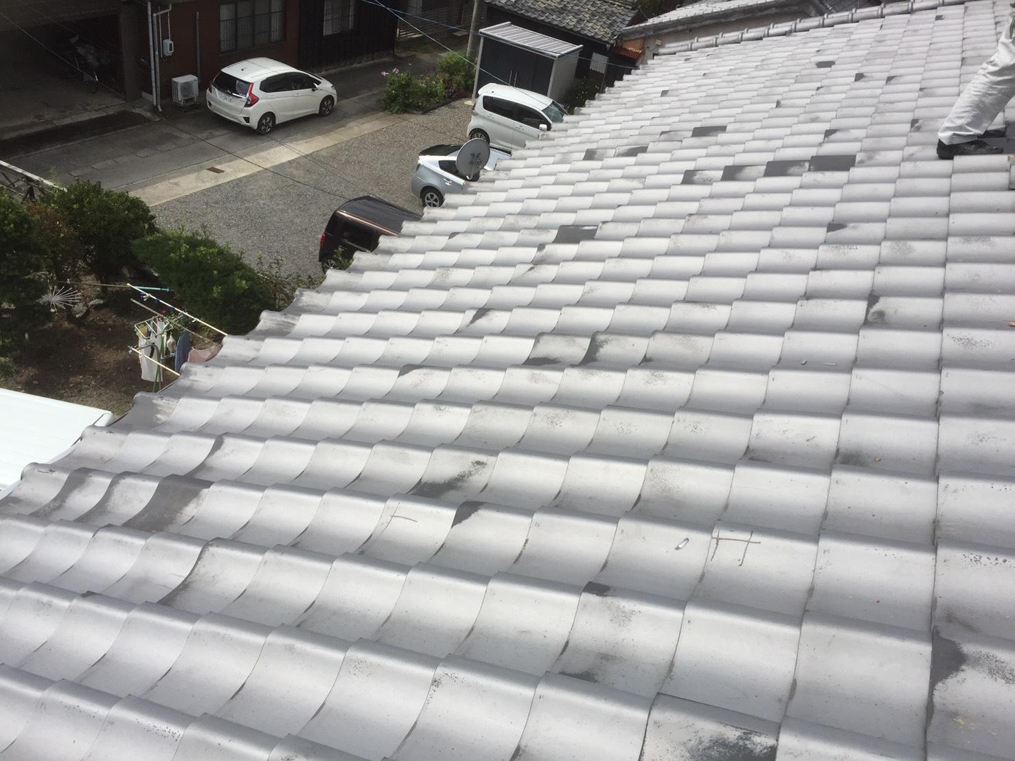 京都府三菱太陽光パネル 15枚PV-MA2250M施工前の写真