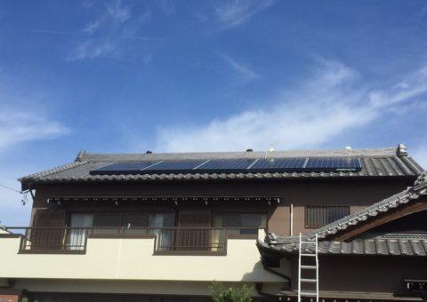 京都府三菱太陽光パネル 15枚PV-MA2250M施工後その他の写真3