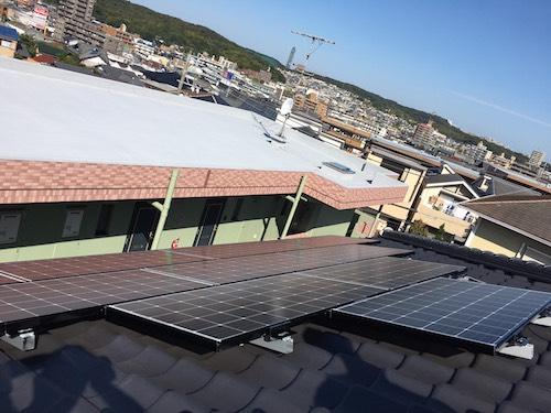 愛知県三菱太陽光パネルPV-MA2250M施工後の写真