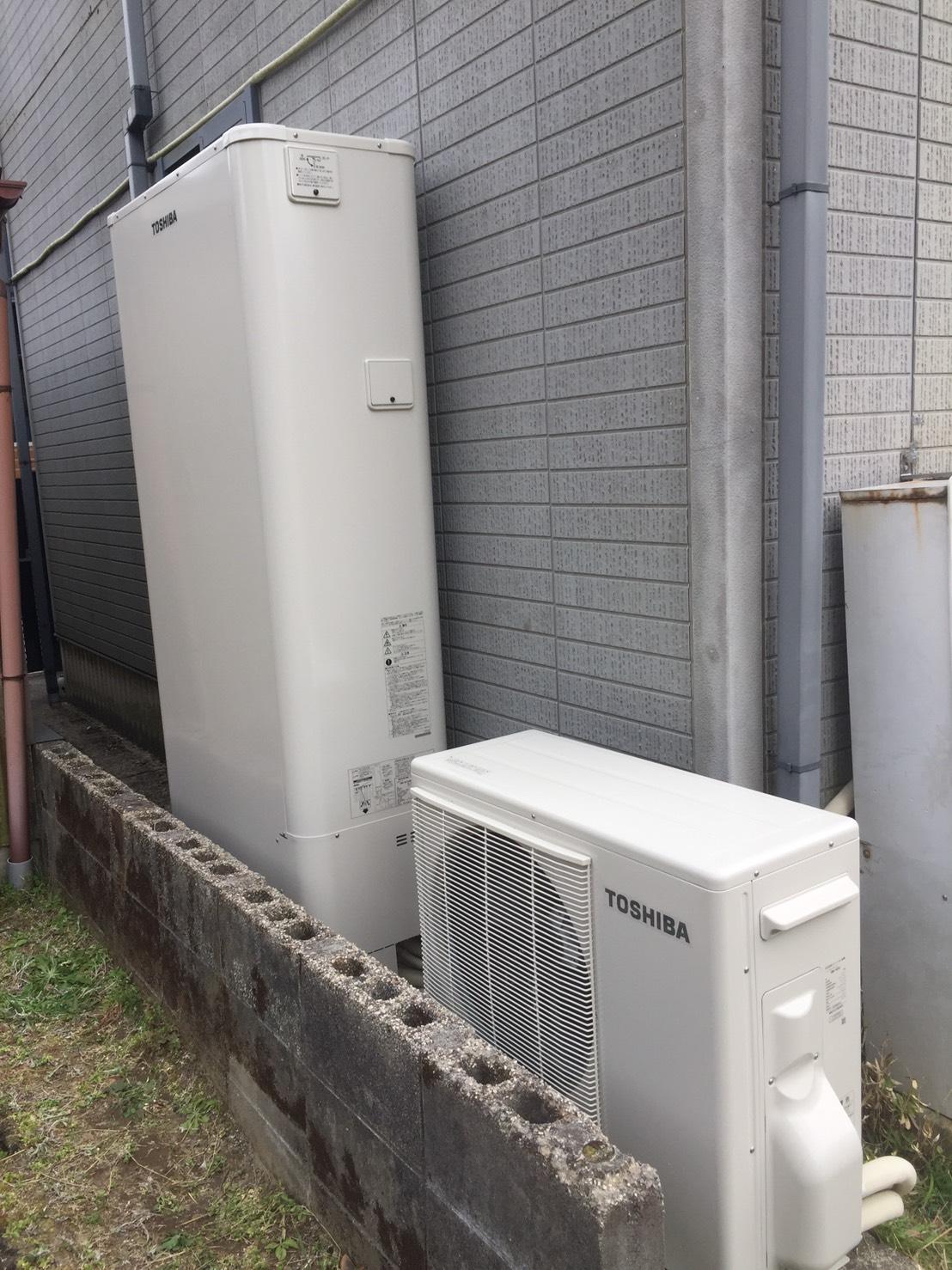 京都府東芝エコキュートHWH-B375HW施工後の写真