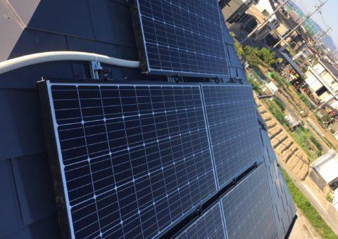 大阪府三菱太陽光パネル 19枚PV-MA2250M施工後その他の写真3