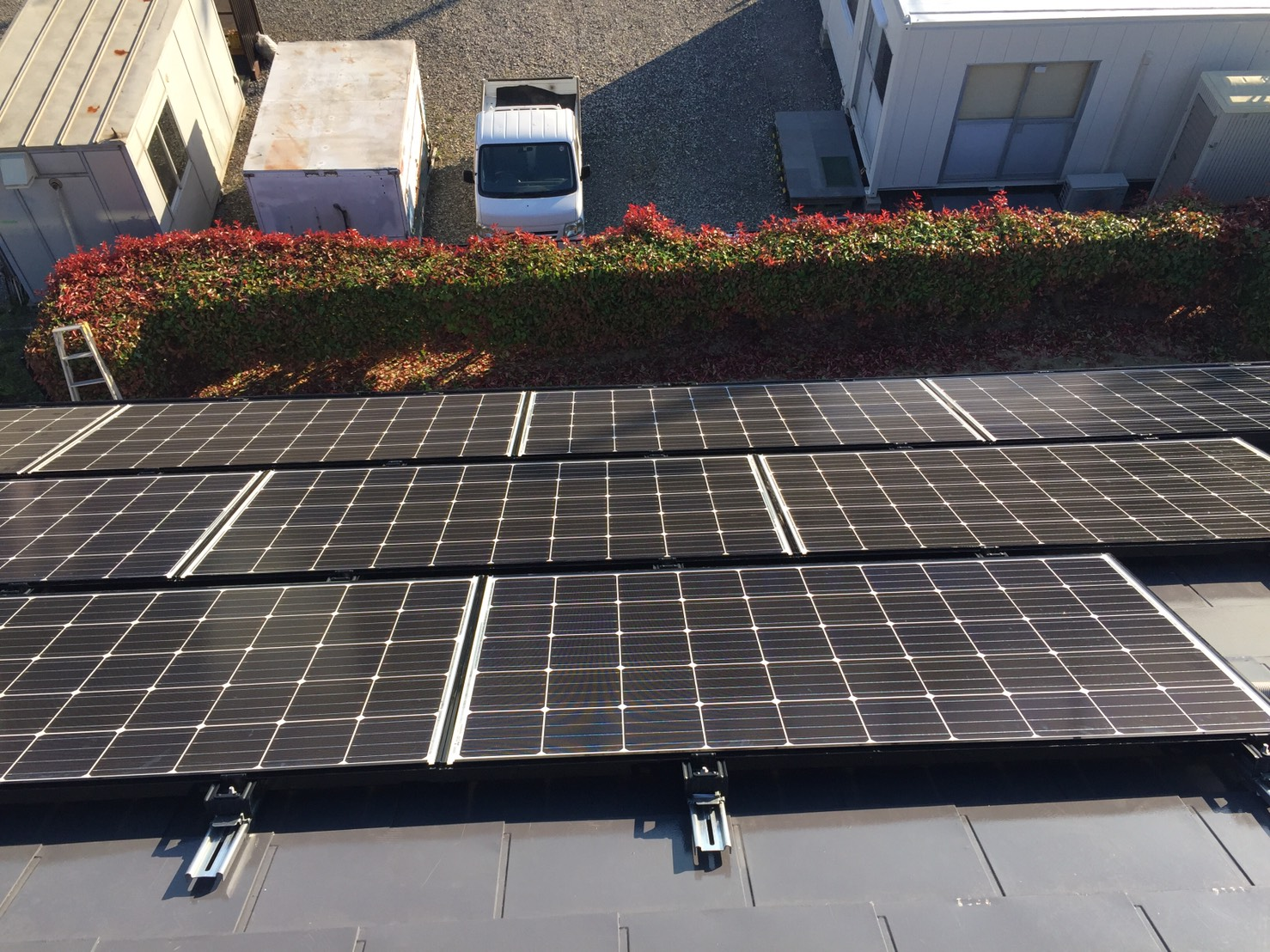 大阪府三菱太陽光パネル 19枚PV-MA2250M施工後の写真