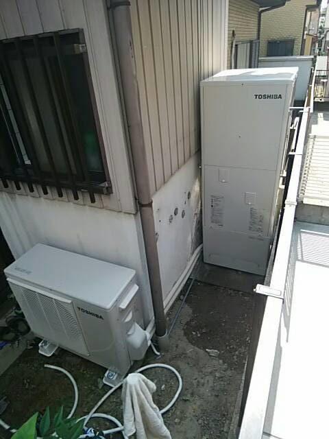 愛知県東芝エコキュートHWH-B375H三菱IHクッキングヒーターCS-G32M施工後の写真