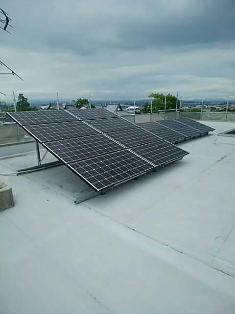 三重県三菱太陽光パネル 20枚PV-MA2250M施工後の写真