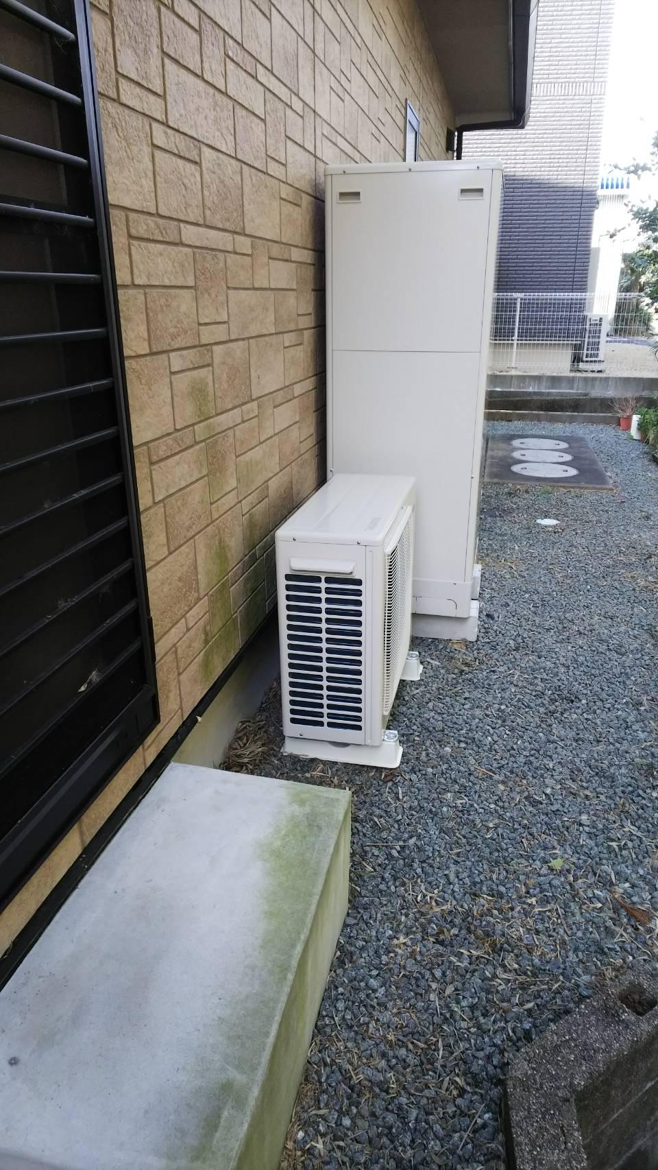 和歌山県東芝エコキュートHWH−B375H施工後の写真