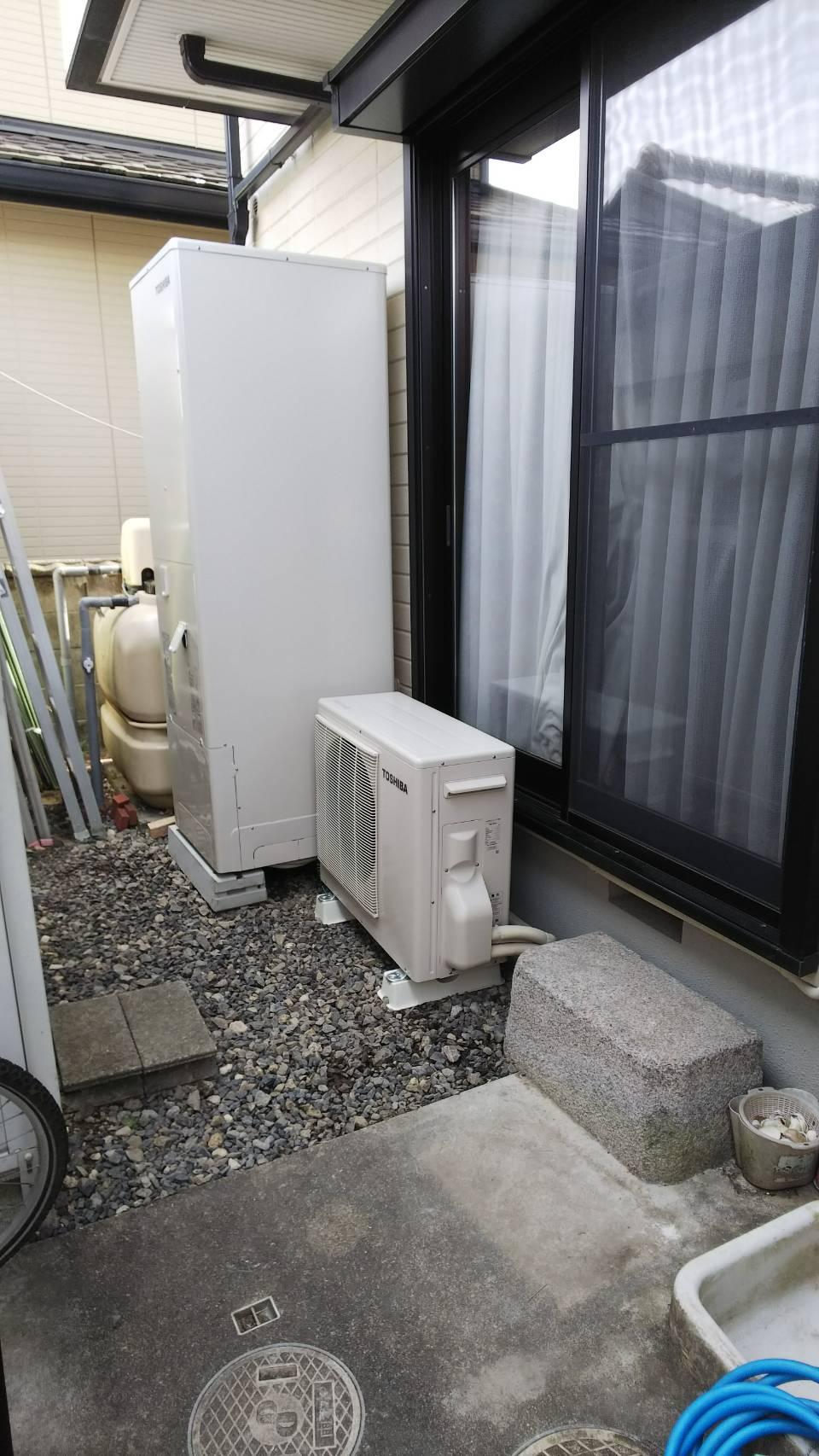 兵庫県東芝エコキュートHWH-B465HA施工後の写真