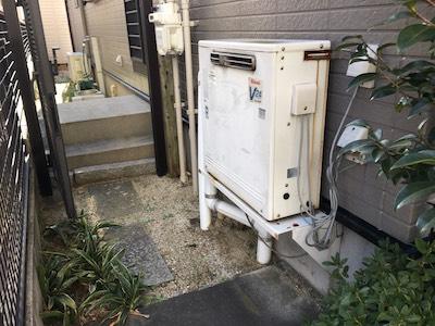愛知県東芝エコキュート(薄型)HWH-B375HWV施工前の写真