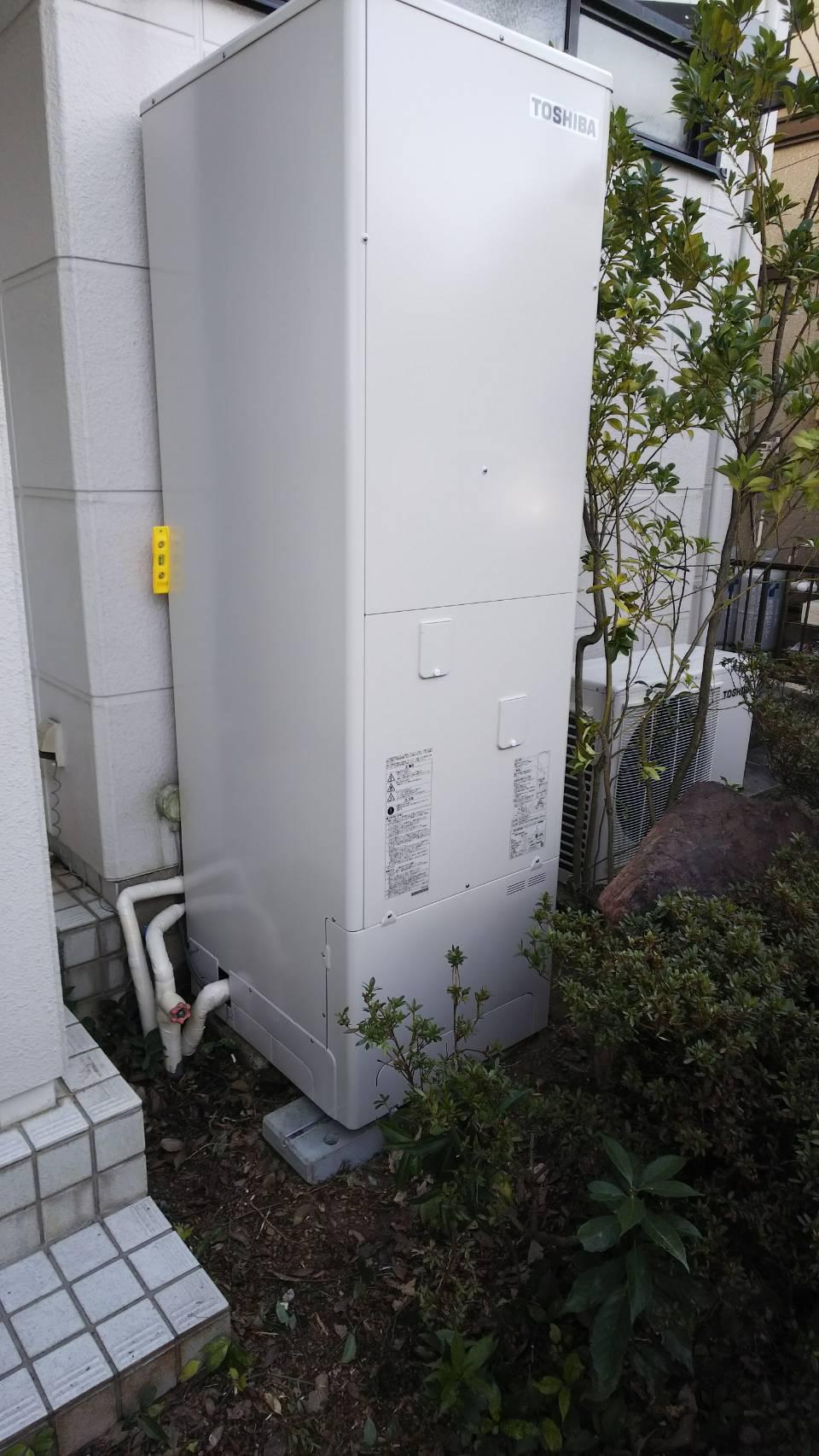 京都府東芝エコキュートHWH-B465HA三菱IHクッキングヒーターCS-G32MS施工後の写真