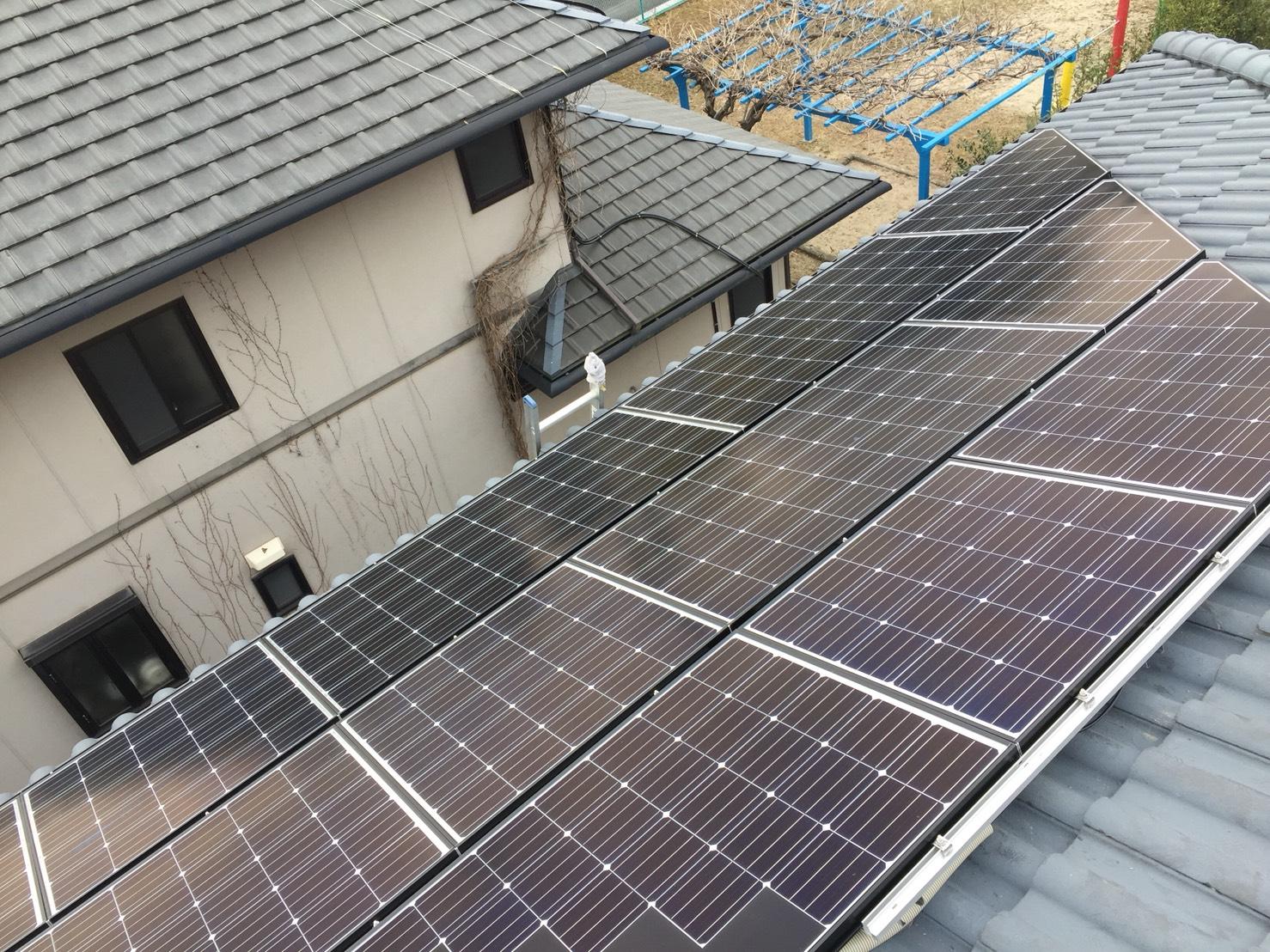 大阪府長州産業 太陽光発電CS-274B61施工後の写真