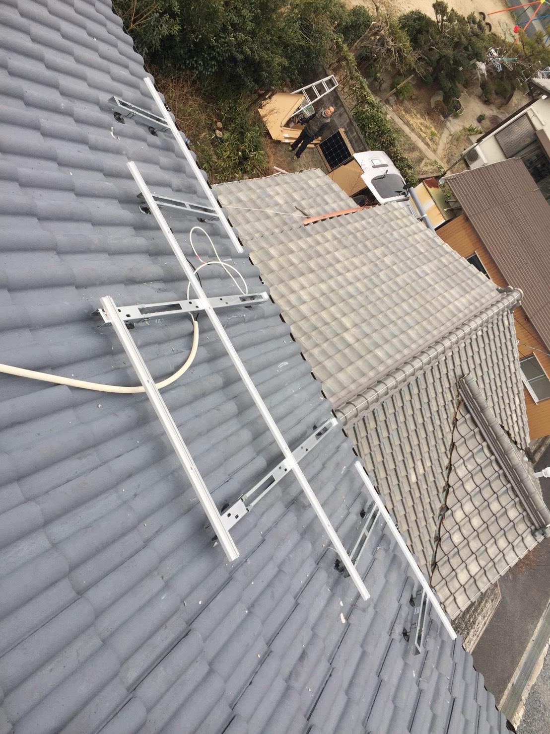 大阪府長州産業 太陽光発電CS-274B61施工前の写真