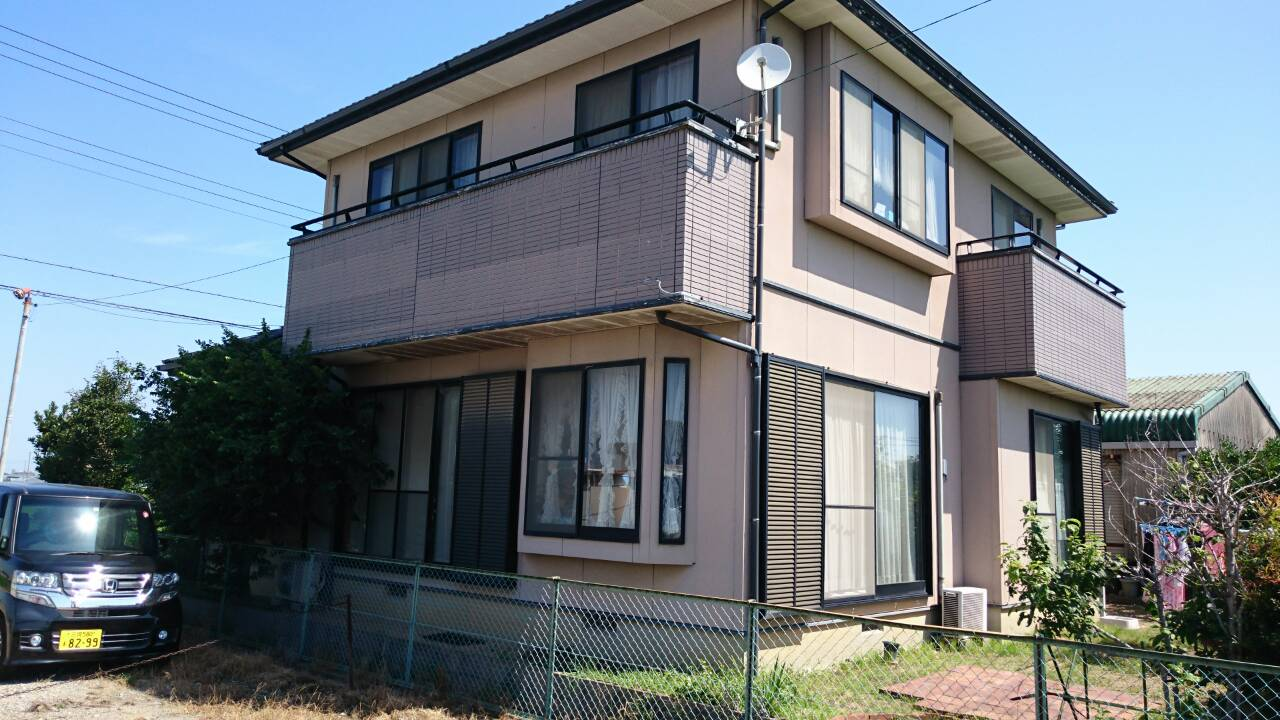 大阪府外壁塗装施工前の写真