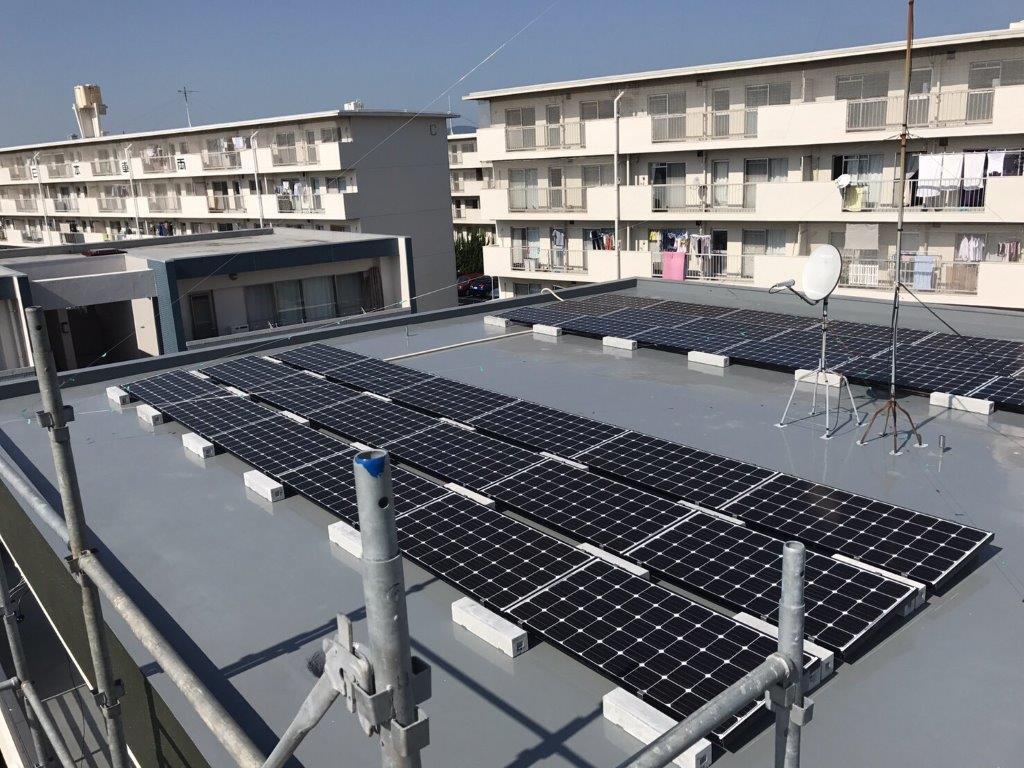 和歌山県三菱太陽光発電PV-MA2180K施工後の写真