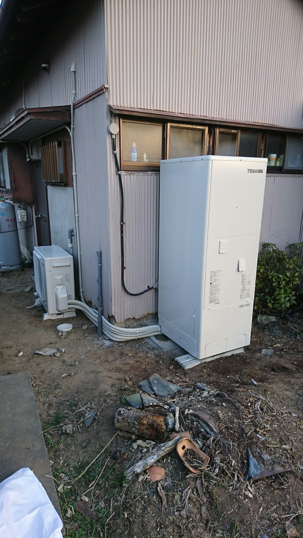和歌山県東芝エコキュートHWH-B375HW施工後の写真