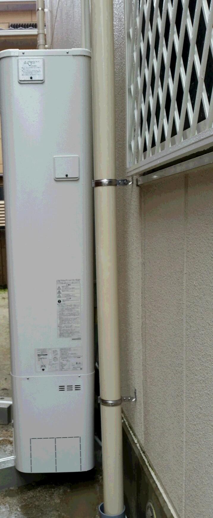 愛知県東芝エコキュート(薄型)HWH-B375HW施工後の写真