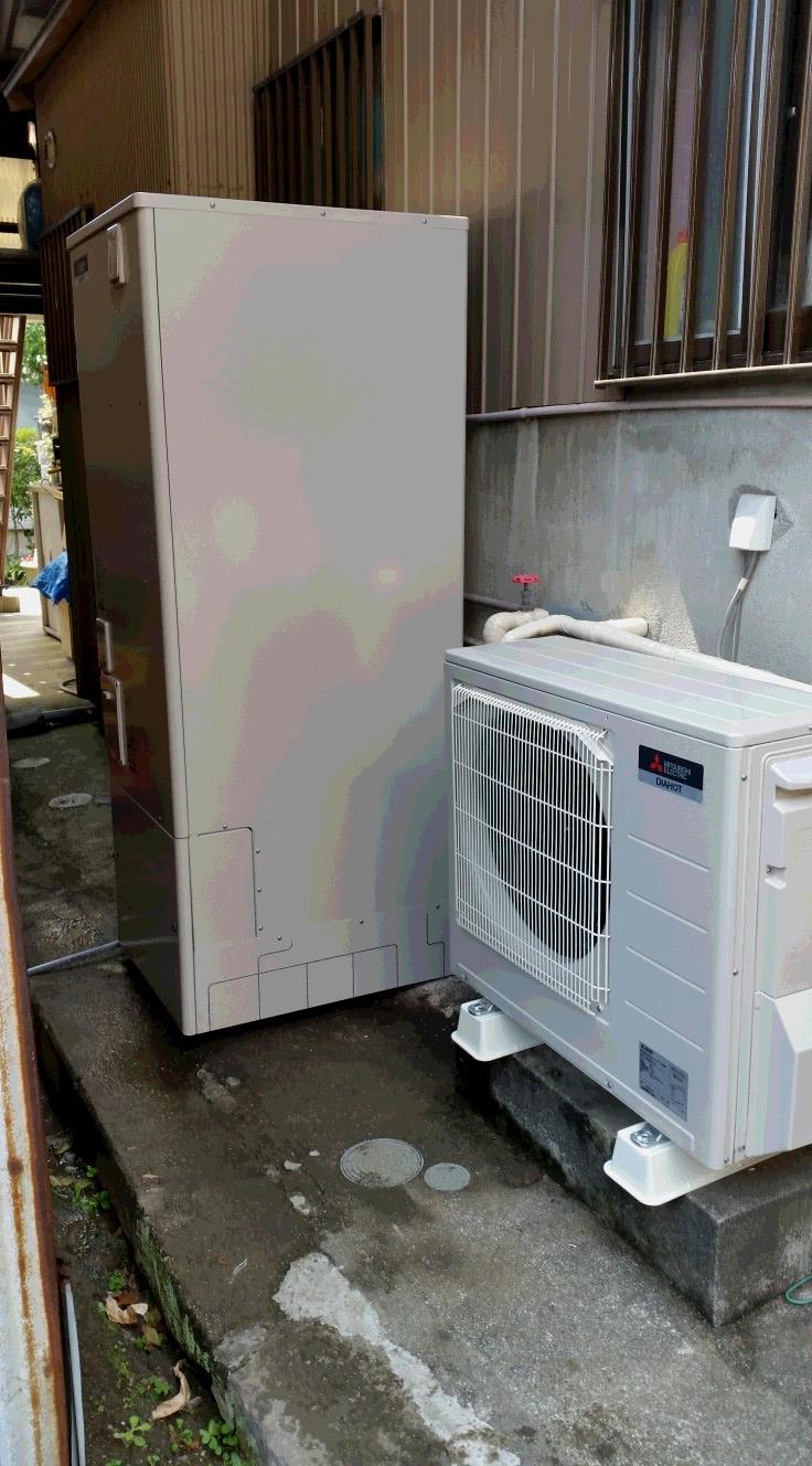 滋賀県三菱エコキュートSRT-S372UZ施工後の写真