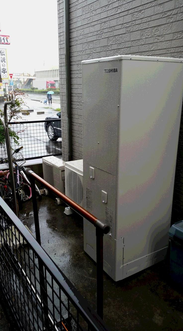 京都府東芝エコキュートHWH-B465H施工後の写真