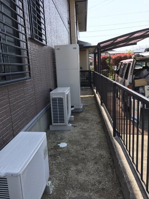 奈良県東芝エコキュートHWH-B375H施工後の写真