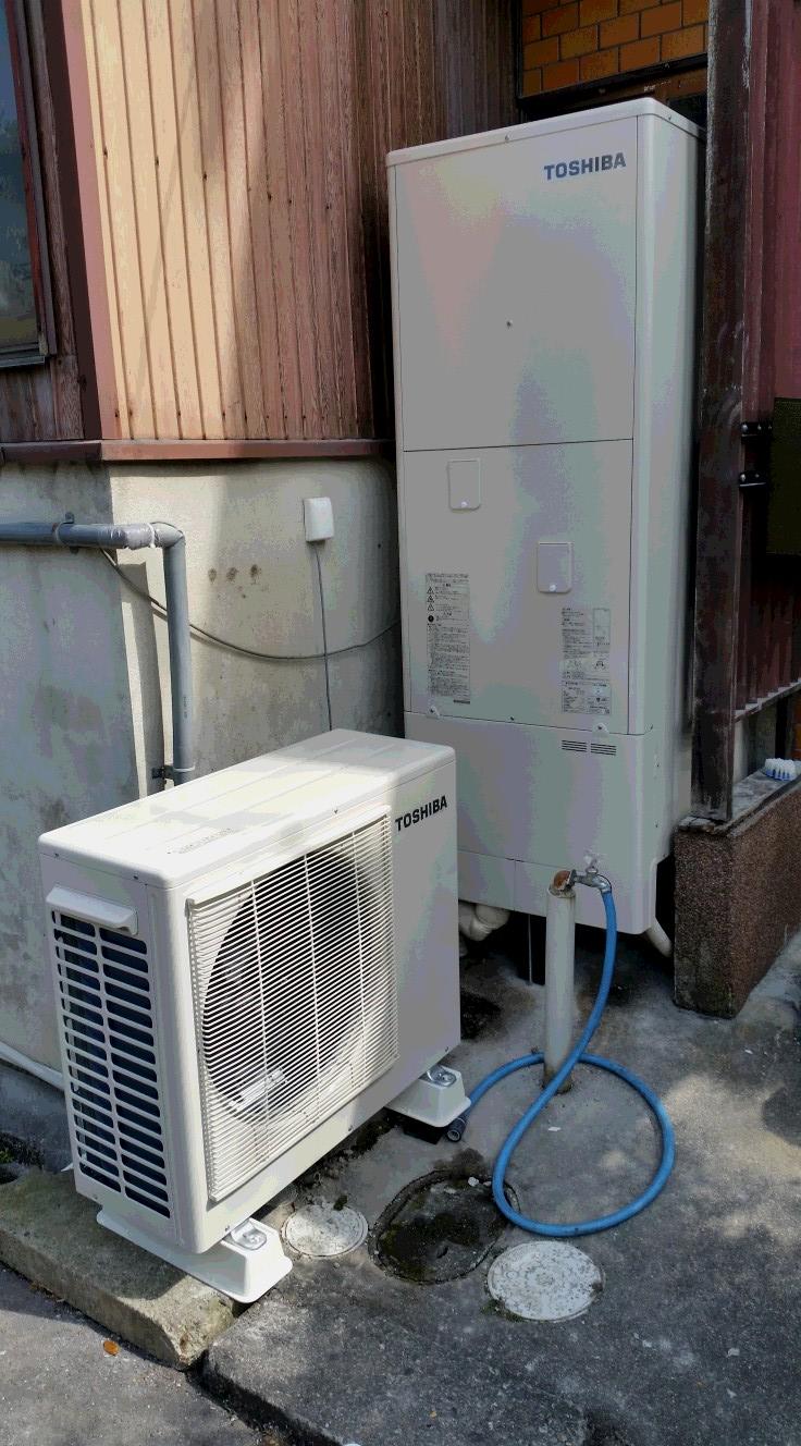 大阪府東芝エコキュートHWH-B375H施工後の写真