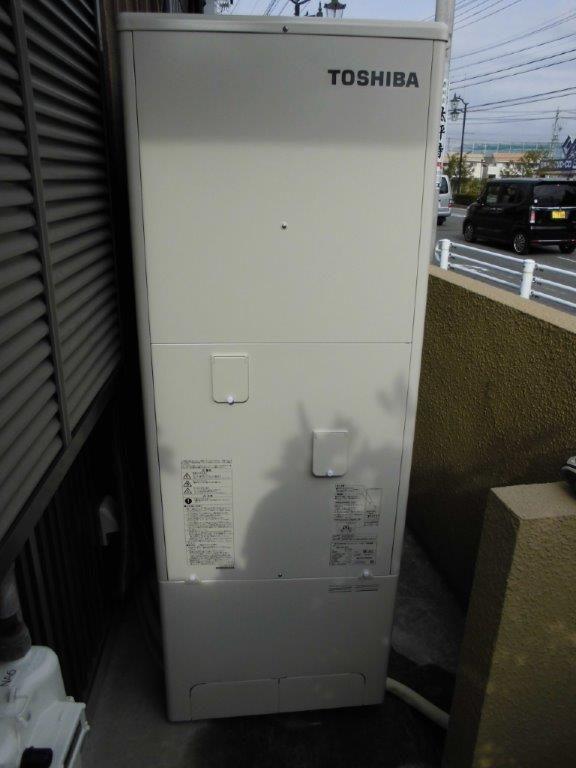 大阪府東芝エコキュートHWH-B374HA施工後の写真