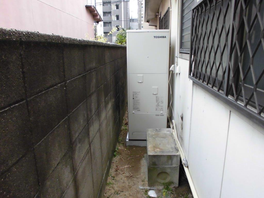 大阪府東芝エコキュートHWH-B374施工後の写真