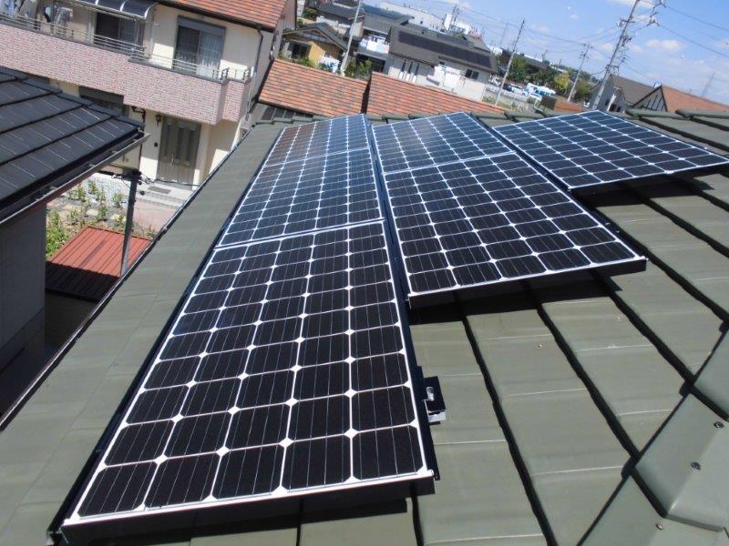 奈良県三菱太陽光発電PV-MA2180K施工後の写真