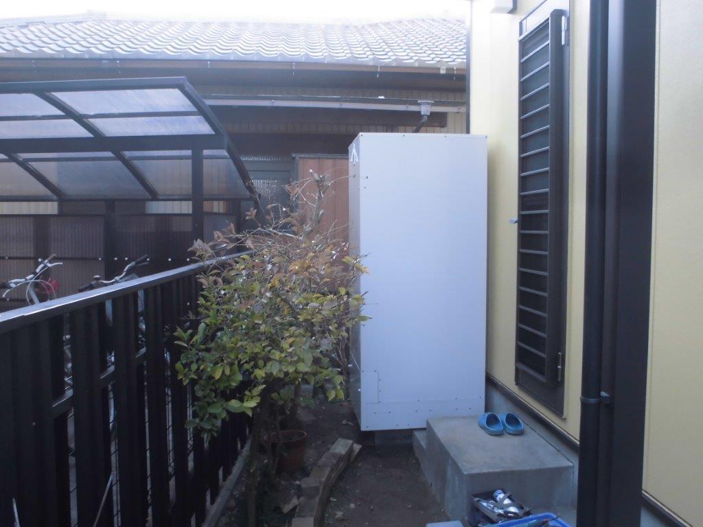 和歌山県Panasonicエコキュート(床暖対応)HE-D46FQS施工後の写真