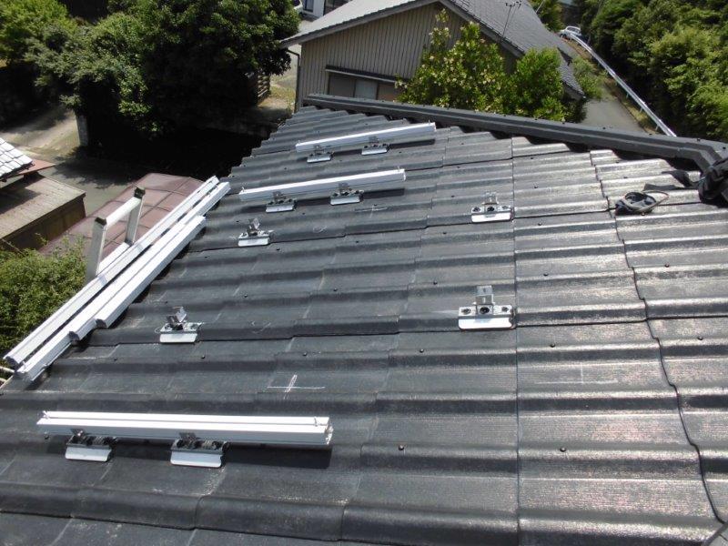 三重県長州産業 太陽光発電CS-246B41 10枚施工前の写真