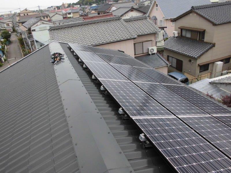 和歌山県長州太陽光パネル 15枚CS-N244SJ03施工後の写真