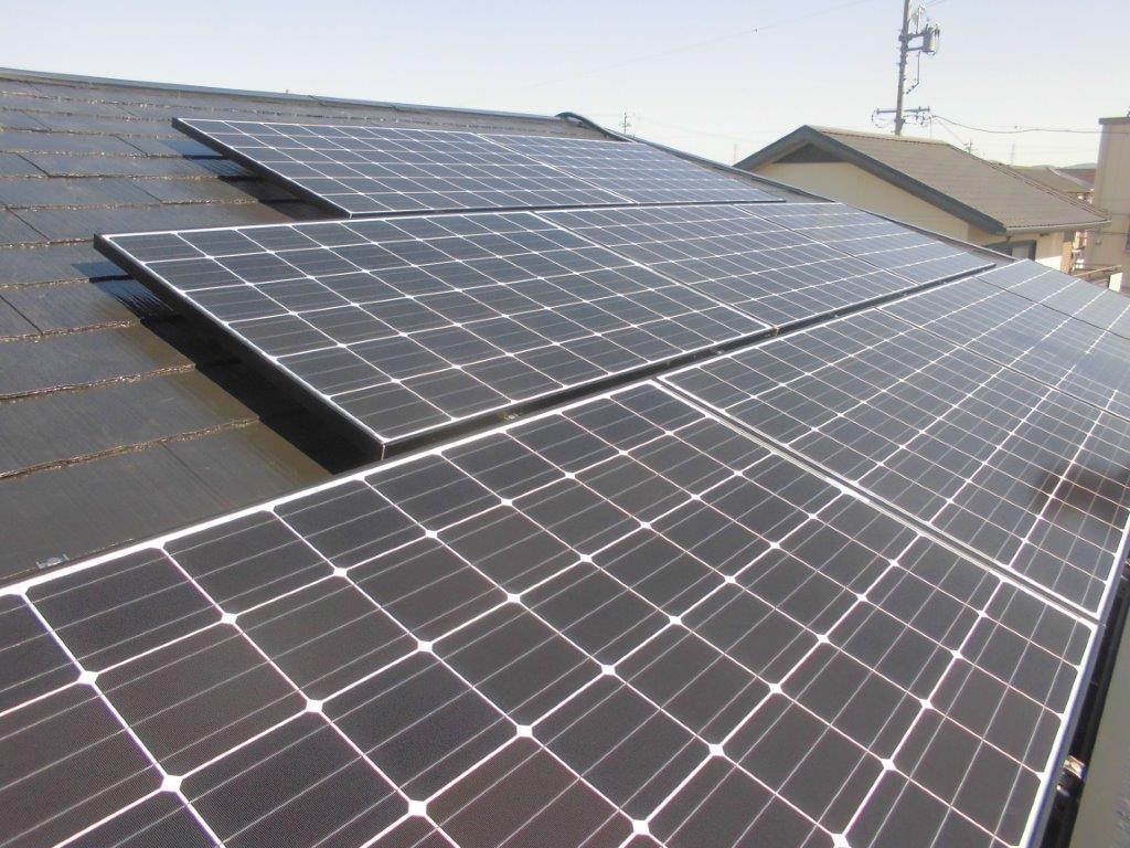 京都府長州太陽光パネル 9枚CS-260B51施工後の写真