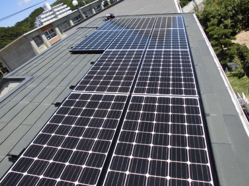 和歌山県三菱太陽光パネル 10枚PV-MA2180K施工後の写真