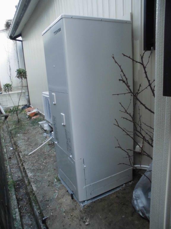 滋賀県東芝エコキュートHWH-B374HA施工後の写真