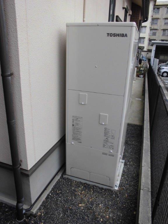 三重県東芝エコキュートHWH-B374HA施工後の写真