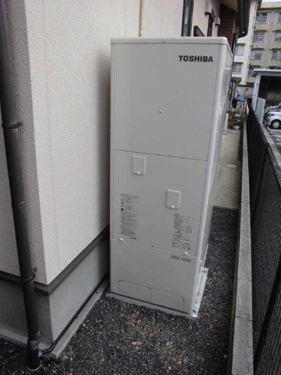 和歌山県東芝エコキュートHWH-B374HA施工後の写真