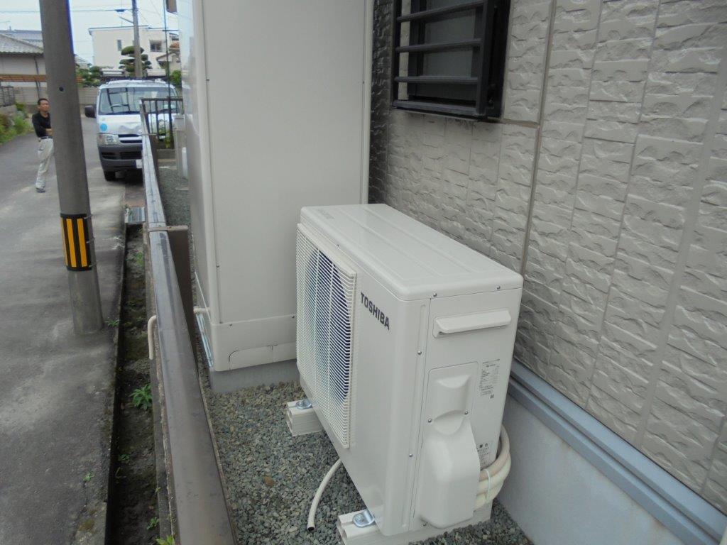 三重県東芝エコキュートHWH-FBH373CG施工後の写真
