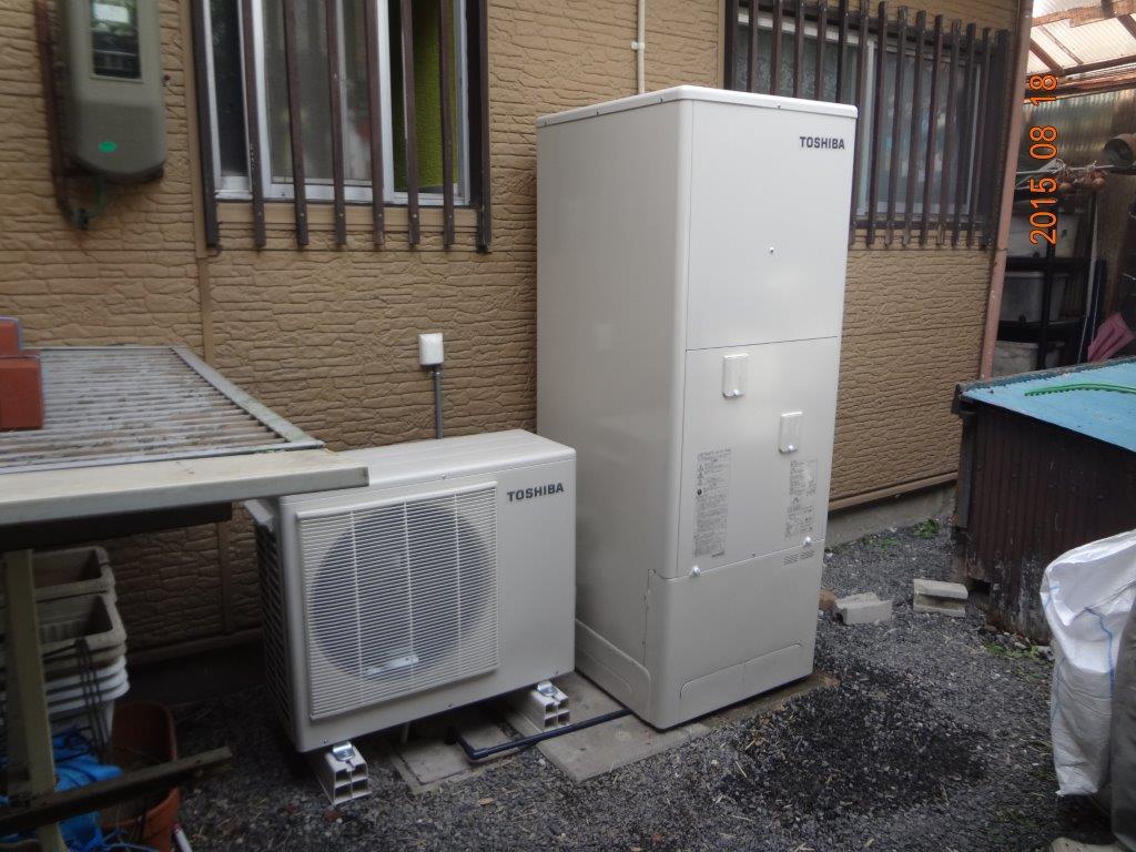 兵庫県東芝エコキュートHWH−B464H施工後の写真